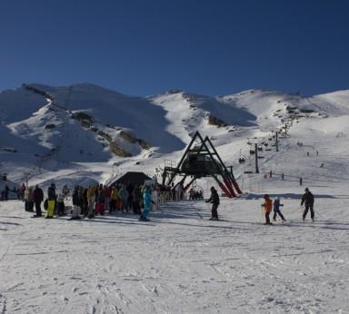 Pistas de esquí en Alto Campoo.